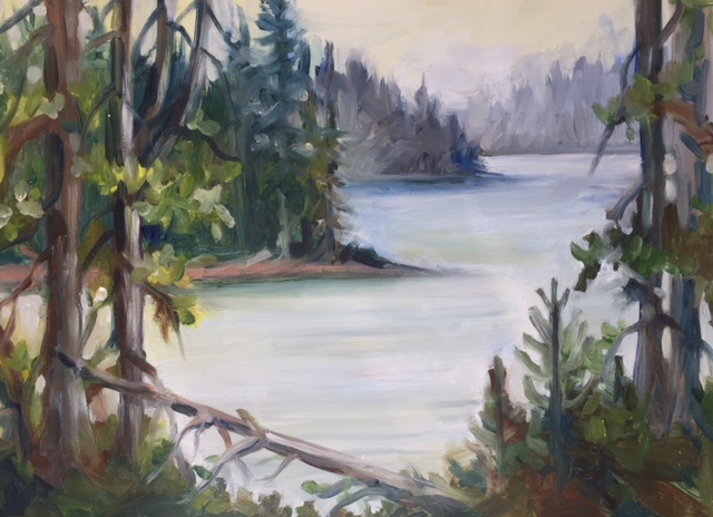 Juniper Lake plein air.jpg